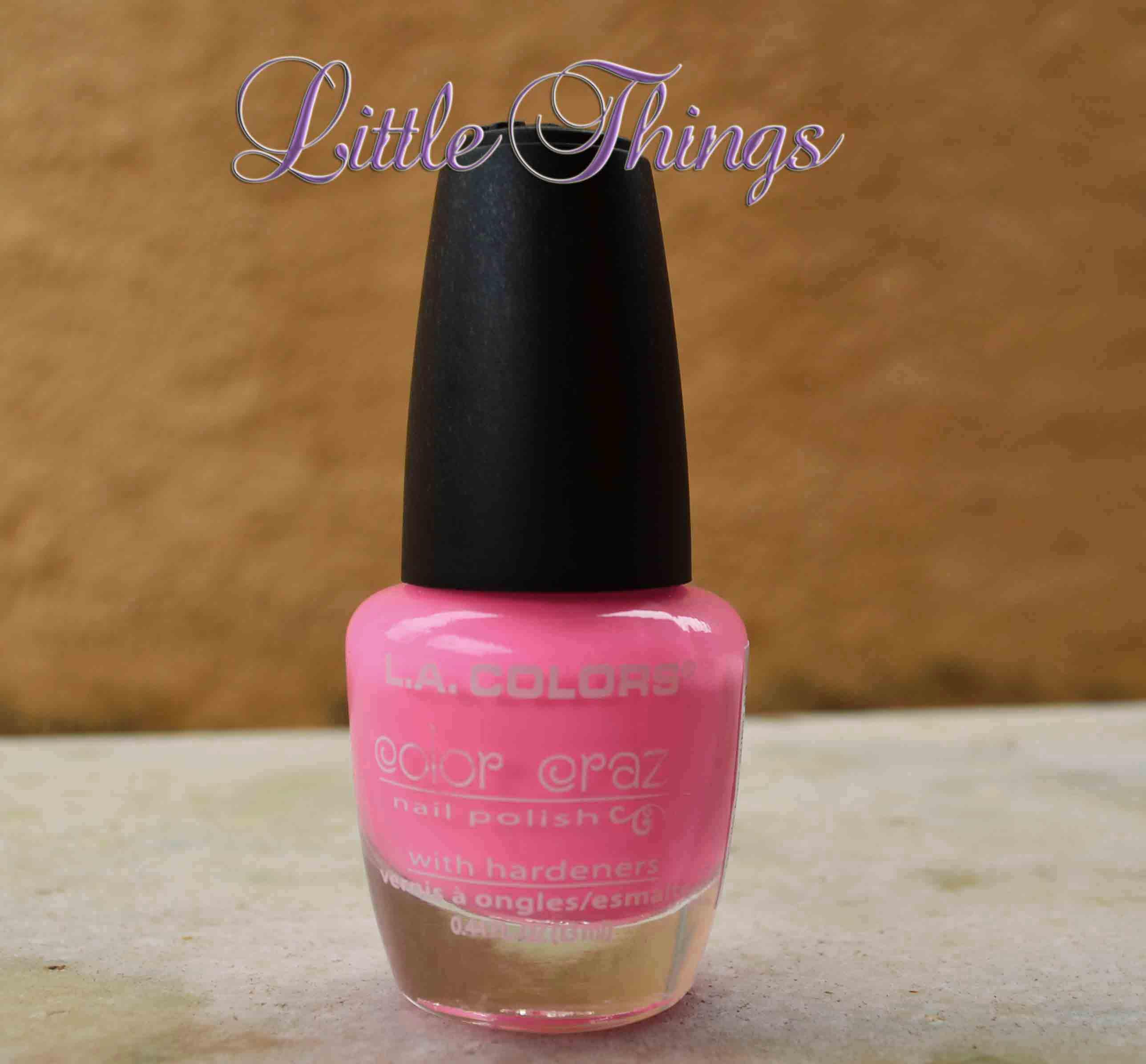 LA colors pink bubbles