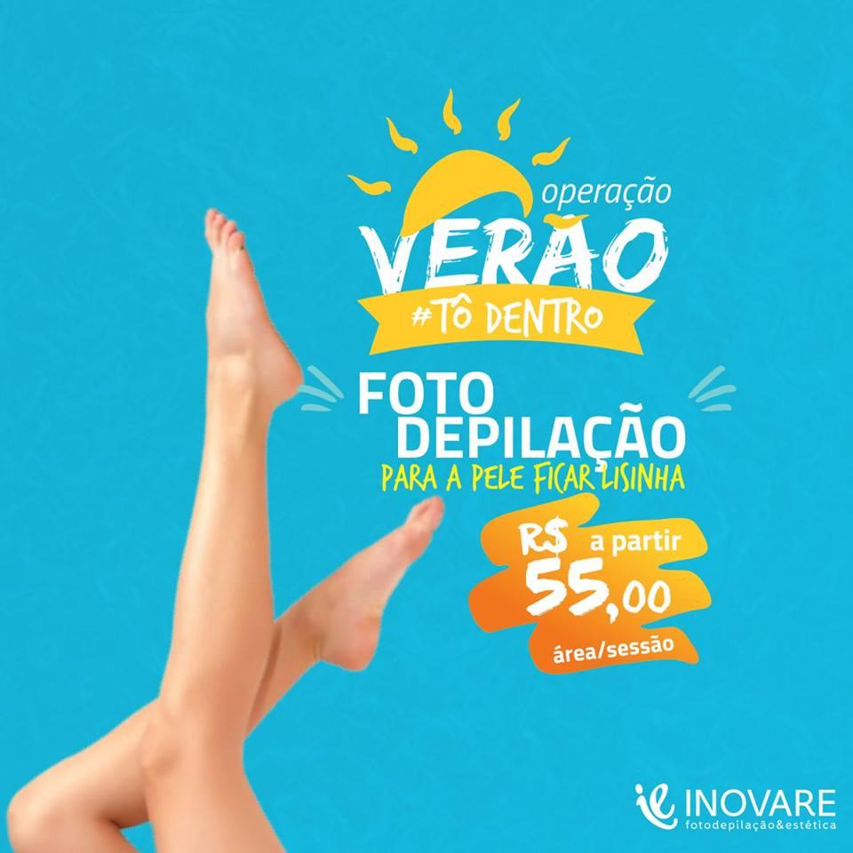 DÉCIMA SÉTIMA SESSÃO DE FOTODEPILAÇÃO INOVARE